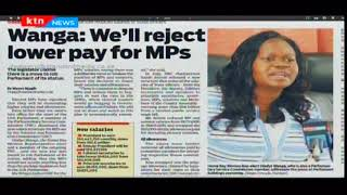Gladys Wanga says they will reject lower pay with all means possible