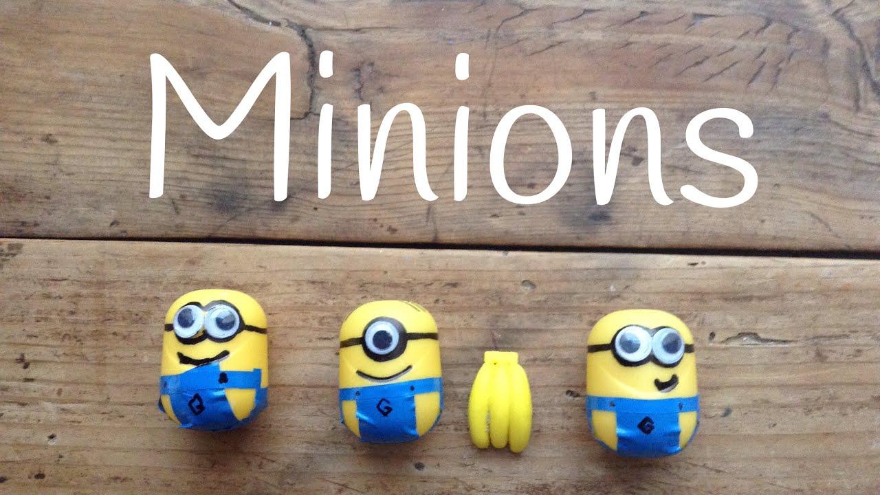 Manualidades de Los Minions Fáciles: Minions con huevos kinder
