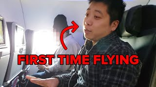 This Man Flies For The First Time