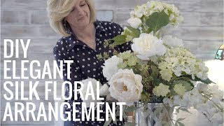 DIY Elegant Silk Floral Arrangement! EASY!