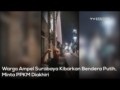 Ekonomi Lumpuh, Warga Ampel Surabaya Kibarkan Bendera Putih, Minta PPKM Diakhiri