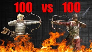 Sarranid Master Archer VS veteran horse archers