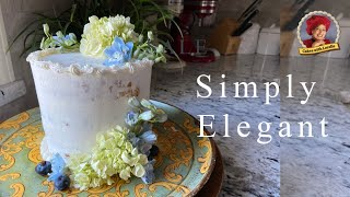 Simple But Elegant Cake Decorating 💕  Easy With Fresh Flowers 💕 Cakes With Lorelie