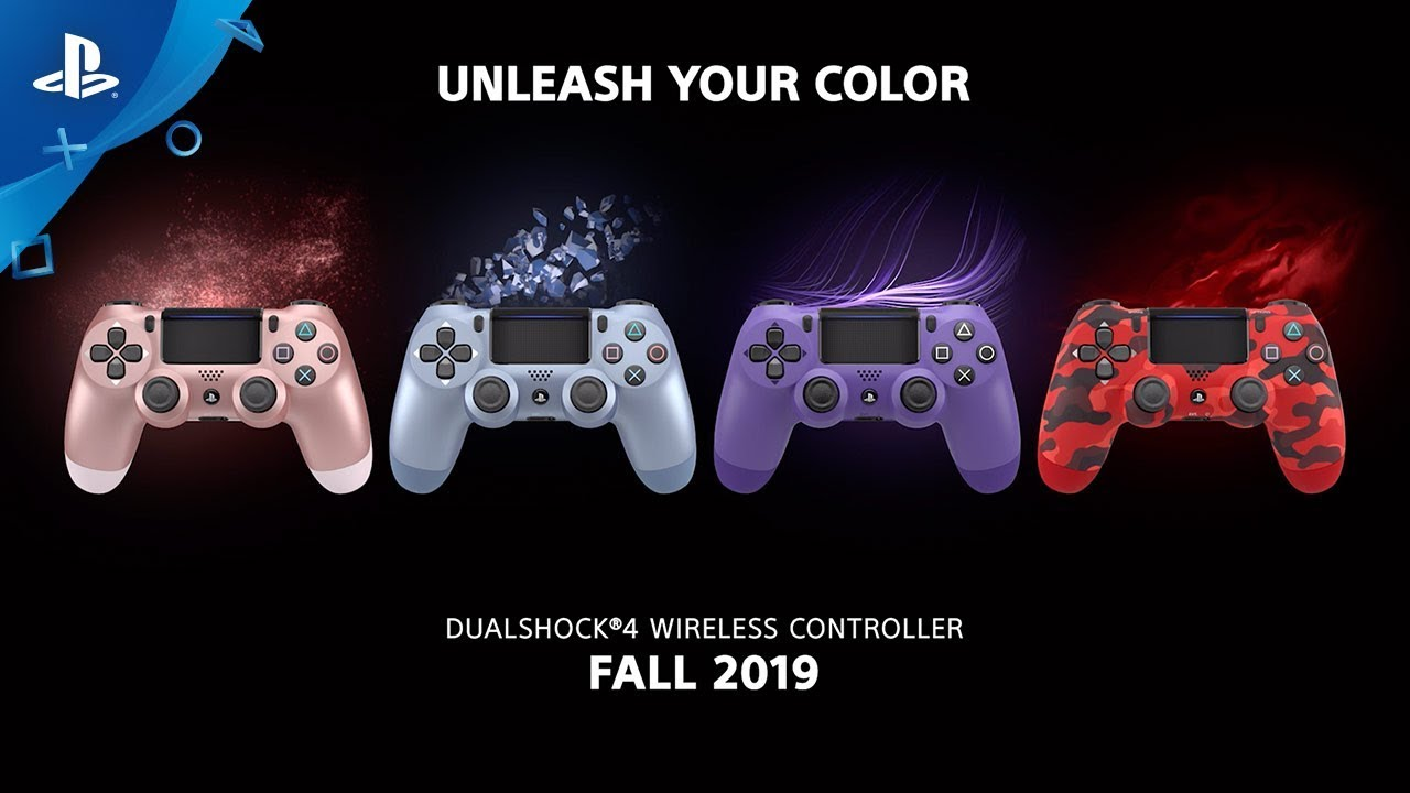 Four New DualShock 4 Wireless Controller Colors, New Gold Headset Design Coming This Fall