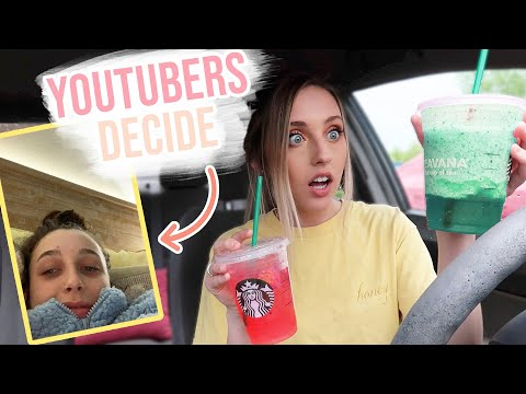 YOUTUBERS Decide My STARBUCKS for a Week   PART 2