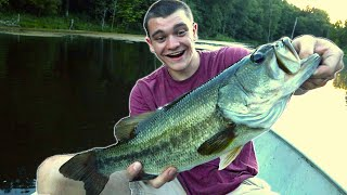 HE CAUGHT HIS PERSONAL BEST!  (GIANT BASS)