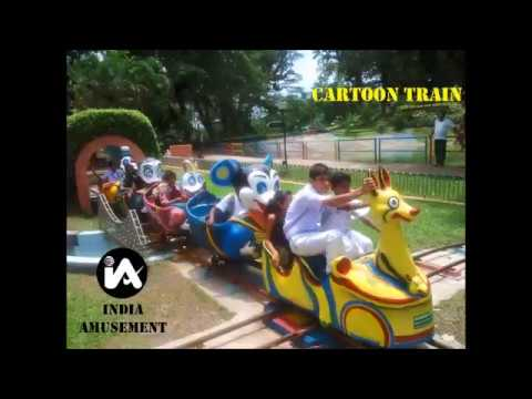 Children Park Cartoon Joy Train Rocking Rides