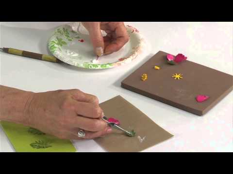 Designing in Susan's Garden with Sizzix Thinlits Cosmos Flower Set