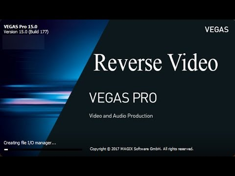 Sony Vegas Pro 15-How To Reverse Any Video Clip