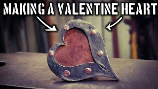 Making A Decorative Steel Heart With Copper Accents