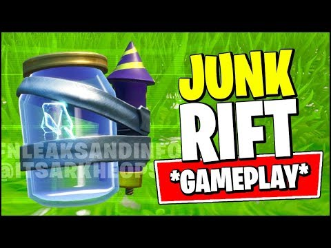 FORTNITE JUNK RIFT GAMEPLAY (IN-GAME)