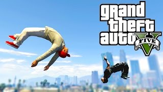 Grand Theft Auto V: GTA 5 - Parkour Fails # 8 (Best Parkour Stunts, Crank That , Highest Jumps)