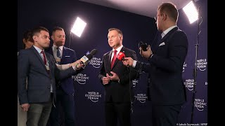 Drugi dzień w Davos | Wypowiedź Prezydenta dla mediów