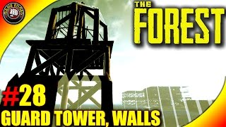 The Forest Gameplay - Gazebo Tower, Defensive Walls - Let's Play S16EP28 (Alpha V0.36)