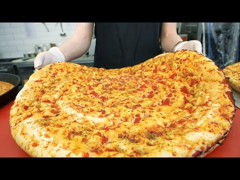 Amazing Korean Giant Pizza! 21in Cheese Bomb Pizza – Korean street food