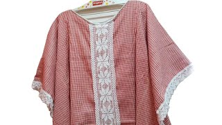 Very Easy And Simple Long Kaftan TOP For , Teenage Girl // By Simple Cutting