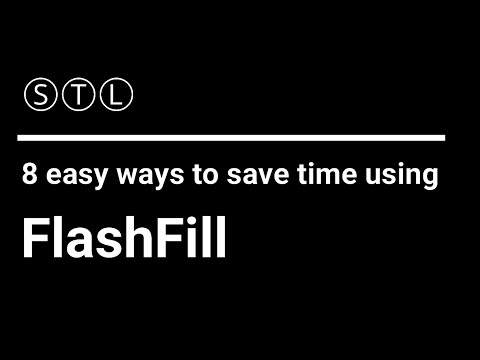 8 easy ways to save time using Flash Fill