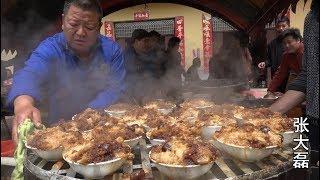 农村大山里的结婚宴,露天柴火大铁锅,都是硬菜,看着都过瘾