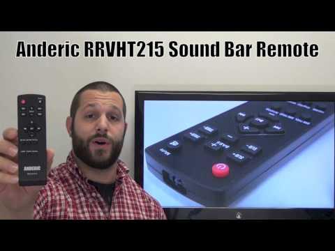 ANDERIC RRVHT215 for Vizio Sound Bar System Remote Control