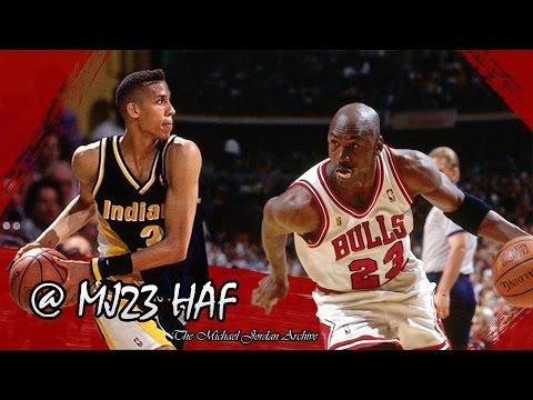 Michael Jordan vs Reggie Miller Highlights Bulls vs Pacers (1991.03.23) - 73pts Combined!