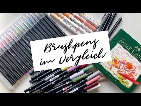 Brushpens im Vergleich | Handlettering | Watercolor Farbverlauf mit Brushpen