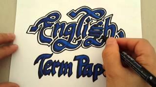 İngilizce Dönem Ödevi Kapağı (English Termwork)