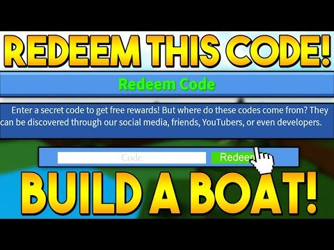REDEEM* THIS CODE BEFORE ITS GONE! | Build a boat for Treasure ROBLOX