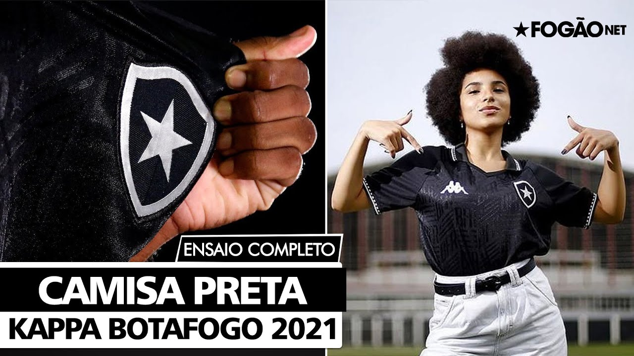 VÍDEO – Botafogo dá show em 'ensaio de fotos retrô' da nova camisa preta da Kappa no Caio Martins
