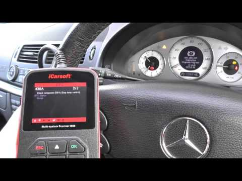 Mercedes B Class Run Flat Indicator Inoperative ESP error