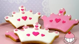 How to Make Princess Crown Sugar Cookies - By Cupcake Addiction