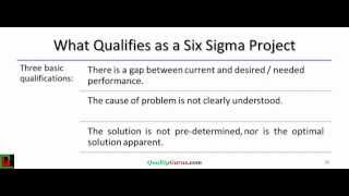 Six Sigma Project Selection