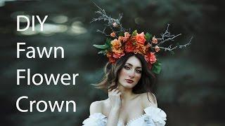 DIY Flower Crown With Antlers @irenerudnykphoto