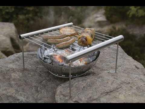 Grilliput Duo Stainless Steel Portable Grill Set-Up, Demo & Review