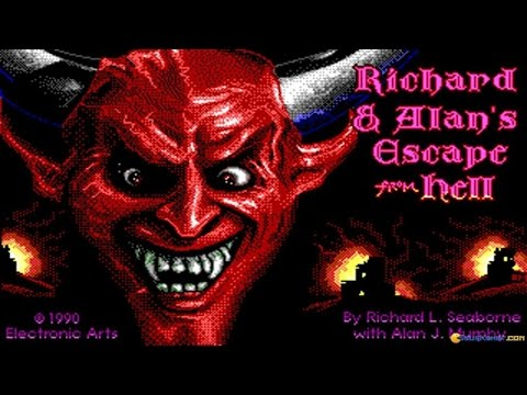 Escape from Hell gameplay (PC Game, 1990)