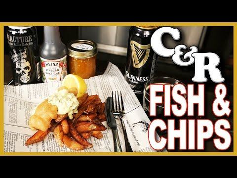 Traditional Fish & Chips Recipe 🐟  🍟  Cook & Review