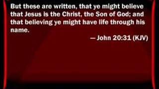 Repentance in John's gospel.  Listen for yourself!!!