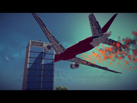 Spectacular Airplane Crashes, Shootdowns, Midair Collisions and More #9   Besiege