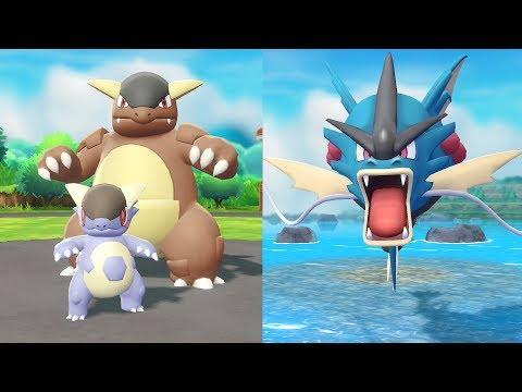 Teaser Mega-Kangourex et Mega-Léviator de Pokémon: Let's Go, Évoli