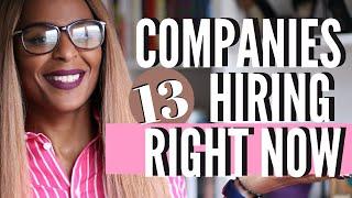 13 Companies Hiring Right Now   Seasonal Jobs 2020