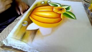 Ensinando pintar moranga