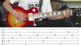 Flo Rida - 'Whistle' Guitar Lesson WITH TABS