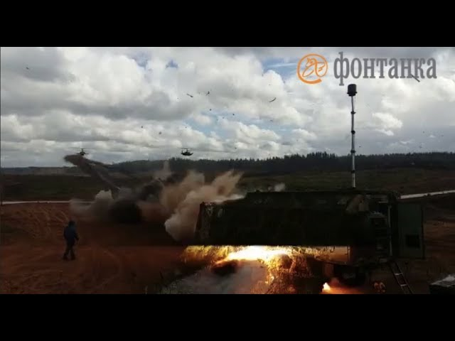 Russian Military Helicopter Fires Rockets by Accident