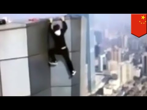 Chinese rooftop climber falls performing skyscraper stunt - TomoNews