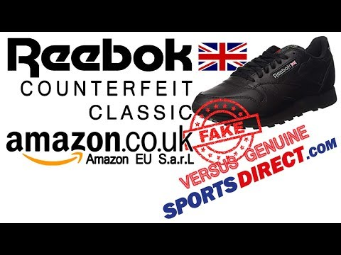 Reebok classic trainers fake versus real, never buy from amazon