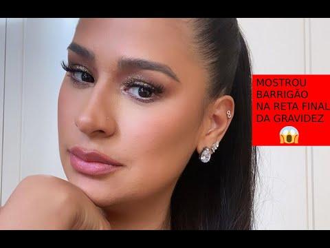 Grávida, Simone surge de biquíni em Cancún e exibe barrigão