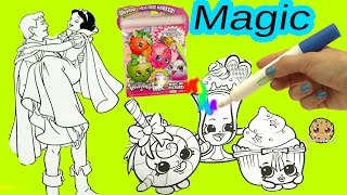 Shopkins Imagine Ink Rainbow Color Pen + Disney Princess Surprise Pictures Books