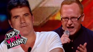 Simon Cowell STOPS FRUSTRATED CONTESTANT Who Then BOUNCES BACK!