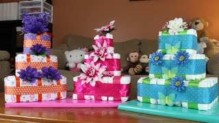 Square Diaper Cake (How To Make)
