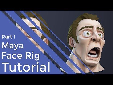 creating 3d facial rig in maya tutorial by antcgi