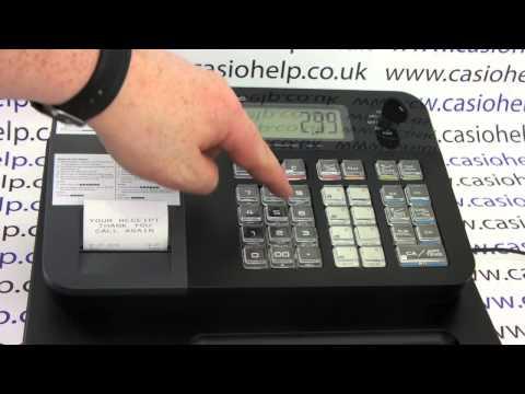 How To Do A Sale On The Casio SE-G1 / SE-S700 / SM-T273 / PCR-T273 Cash Register